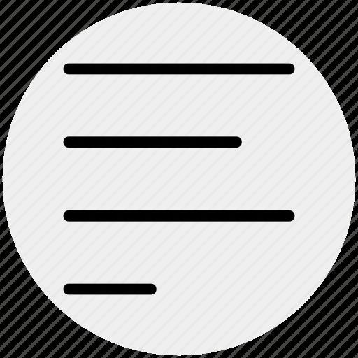 align, alignment, center, center align, left icon
