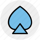 casino, gambling, playing cards, poker, spades icon