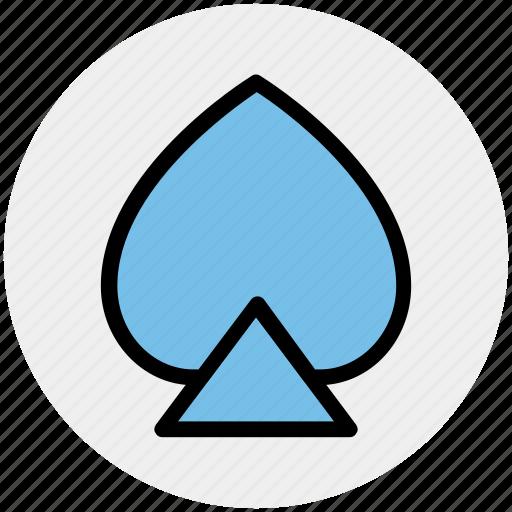 casino, gambling, playing cards, poker, spades icon