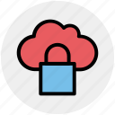 cloud, cloudy, data, lock, locked, secure icon