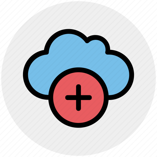 add, cloud, data, plus, plus sign, storage icon