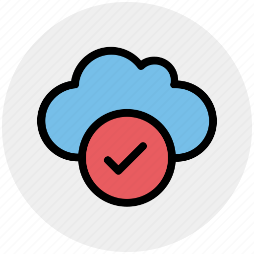 accept, cloud, data, good, storage icon