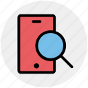 cell phone zoom, magnifier, mobile, search, searching, smartphone