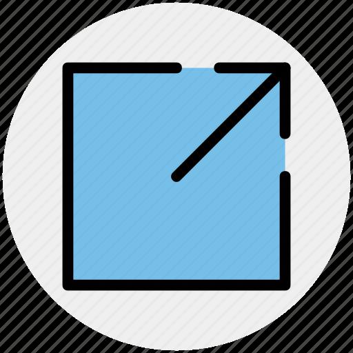 arrow, box, chart, up, up arrow icon
