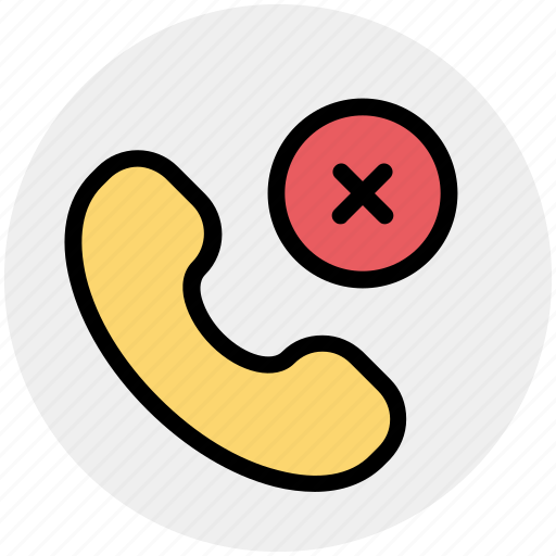 communication, phone, phone receiver, receiver, reject, telephone icon