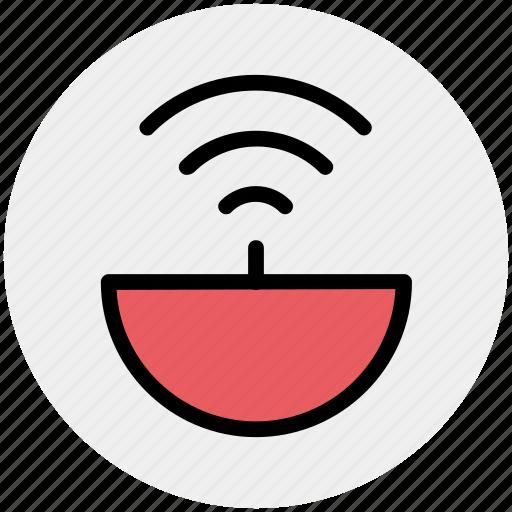antenna, hotspot, internet, satellite dish, signal, wifi, wireless icon