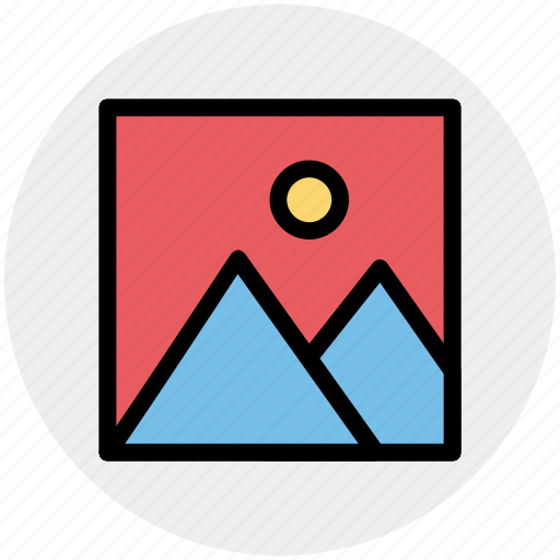 framed, gallery, image, mountain, photo, photography, picture icon