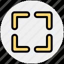 box, capture, focus, target icon