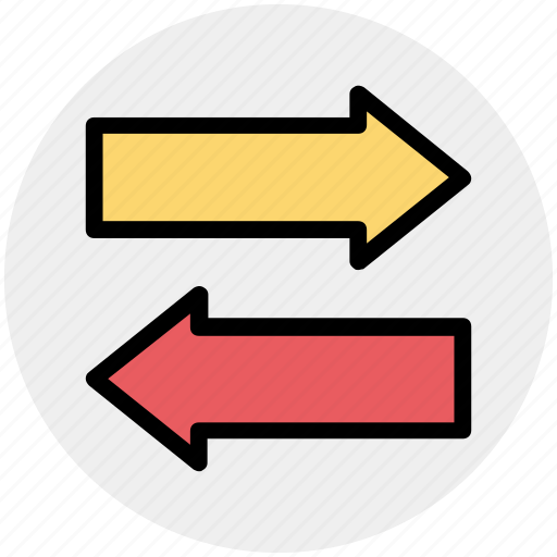 arrow, left, right, right and left arrow icon
