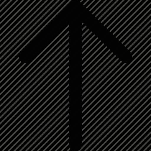 arrow, line, outline, up arrow, upper arrow icon