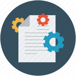 documents gears, options, page settings, settings, tools, webpage settings icon