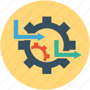 cogwheels, gearwheel, gearwheel with arrows, options, settings, tools icon