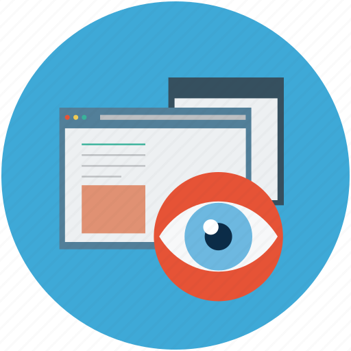 visibility, visible, web searching, website and eye, website search, website searching icon