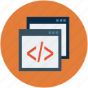 coding, html, hypertext markup language, php code, php programming, programming icon