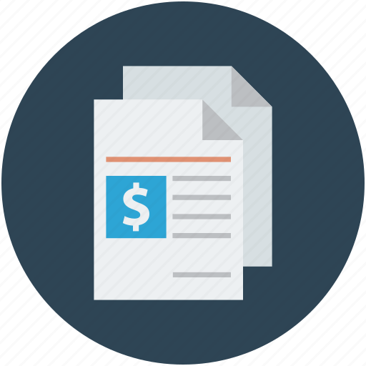 archive, business documents, financial documents, financial files, financial papers icon