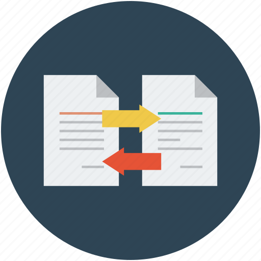 data transfer, data transfer concept, data transform, data transforming, documents with arrows icon