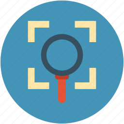 analysis, attention, concentration, magnifier focus, observance icon