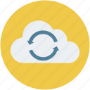 cloud computing, cloud computing concept, cloud data sync, cloud refresh sign, cloud sync concept icon