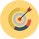 aim, dart on dartboard, dartboard, goal, success icon