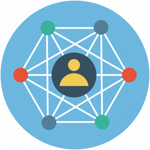 global network, global person, key person, universal access, universal network icon