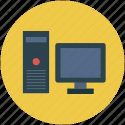 computer, desktop, microcomputer, pc, personal computer icon