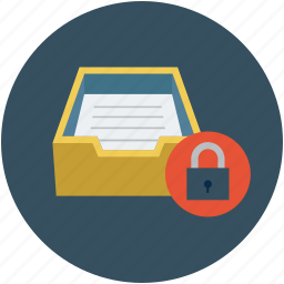 email inbox, inbox with lock, mailbox, mailbox and lock, mailbox security concept, maildrop icon
