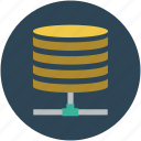 data network, data shared, databank, database, database network icon