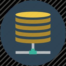 data network, data shared, databank, database, database network icon