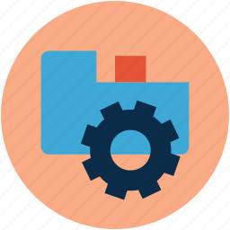 folder and cogwheel, folder settings, folder with gear, options, settings, tool icon