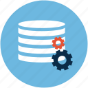 data settings, data settings tool, database settings, database with gears, options icon