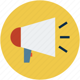 announcement, announcing, audio, loudspeaker, megaphone, sound icon