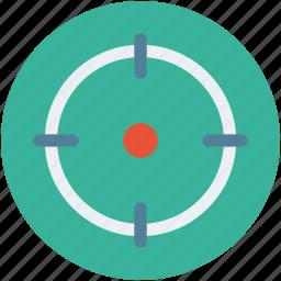 aim, crosshair, focus, goal, shooting, target icon