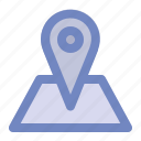 education, learning, location, map, pin, place, point icon