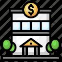 bank, money, urban, town, building