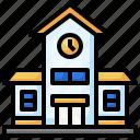 school, education, town, building, urban