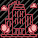 skyscraper, urban, edifice, town, building