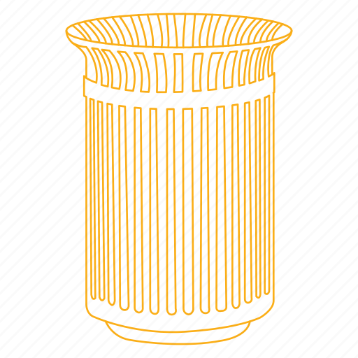 can, dispose, garbage, public, trash icon