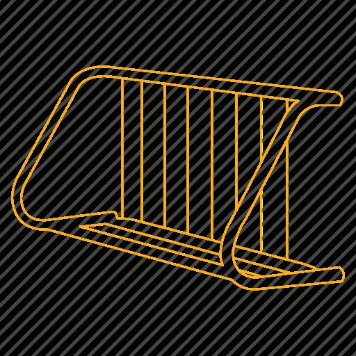 bicycle, bike, metal, park, rack, street icon