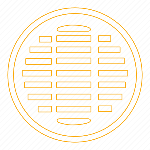 construction, grate, manhole, metal, sewer, street icon