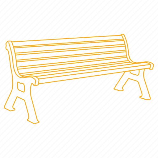 bench, park, sit, street, wooden icon
