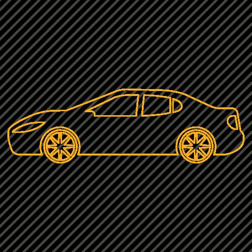 automobile, car, drive, sedan, transportation icon