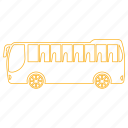 bus, city, public, route, street, transporation icon