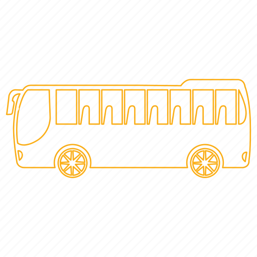 bus, city, public, route, street, transporation, urban icon