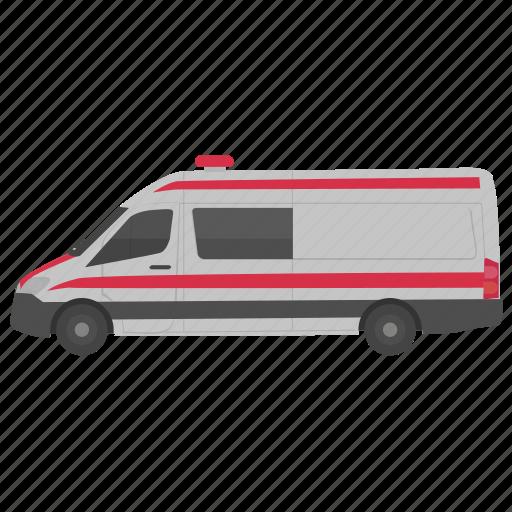 ambulance, emergency vehicle, medical vehicle, paramedic transport, patient vehicle icon