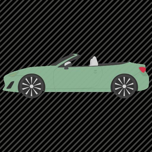 cabriolet car, car, convertible, convertible car, passenger car icon
