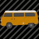 microbus, minicoach, passenger van, urban van, van icon