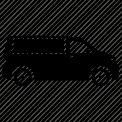Commercial vehicle, cargo van, commercial van, utility van, delivery van icon