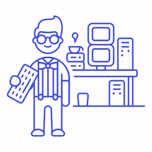 1, computer, gamer, geek, home, male, nerd, pc, studio, tribes, urban, workstation icon