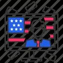 flag, usa, president, american, minister