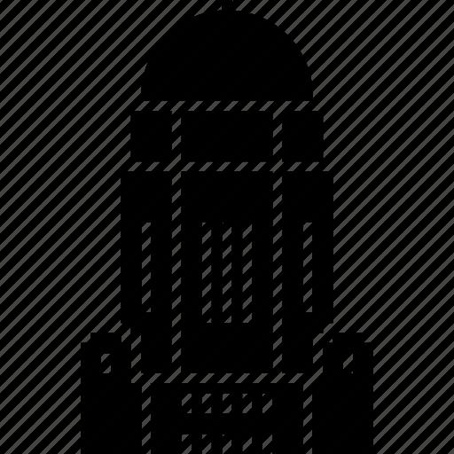 building, capitol, lincoln, nebraska, usa icon